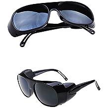 Nadalan Negro Gafas de Soldadura/Gafas de Trabajo/Gafas antichoque/Gafas de protección