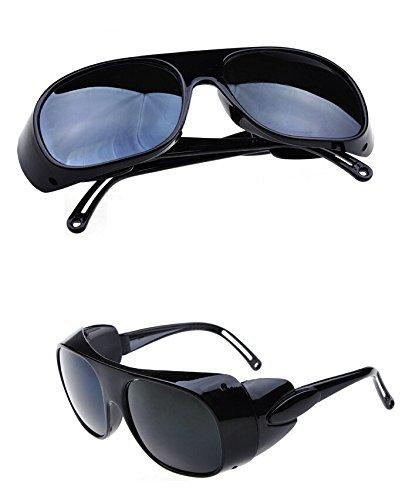 Nadalan Negro Gafas de Soldadura/Gafas de Trabajo/Gafas antichoque/Gafas de protección láser
