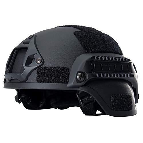 xMxDESiZ Outdoor Sports Military Tactical Combat Jagd Unisex Kopf Schutzhelm Black