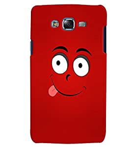 Citydreamz Smiley/Funny/Red Abstract Design Hard Polycarbonate Designer Back Case Cover For Samsung Galaxy J2