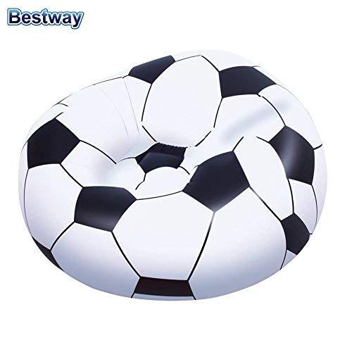 Bestway Aufblasbarer Sessel Fussball Sitzsack Relaxsessel Luftsessel Fernsehsessel Ball -