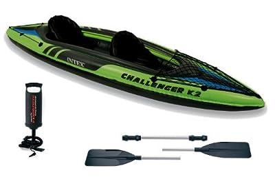 Intex Kajak K2 Challenger #68306 für 2 Personen, aufblasbar, mit Paddeln von Intex