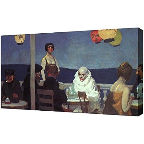 Edward Hopper - Soir Bleu - Stampa Artistica Su Tela