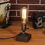 Tischlampe Retro Vintage - Giraffe Alte Retro Stil Tischlampen Holz Vintage Tischleuchte Kupfer Industrie Edison E27 Metall(Glühbirne nicht enthalten)