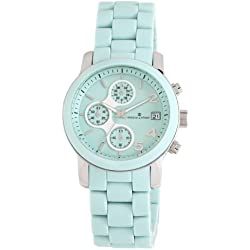 Herzog and Söhne Women's Quartz Watch with Green Dial Chronograph Display and Green Stainless Steel Bracelet HS402-190