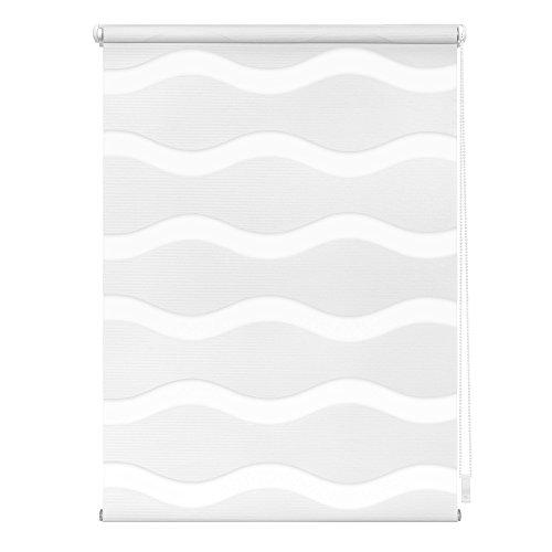 Lichtblick KDW.080.220.01 Duo Rollo Welle Klemmfix, ohne Bohren Weiß, 80 cm x 220 cm (B x L)