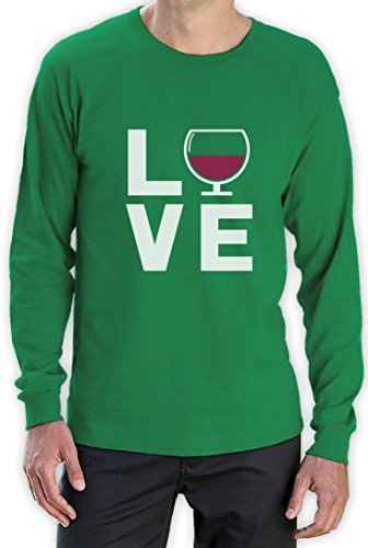 Love Wine - Geschenkidee Shirt für Wein - Fans Langarm T-Shirt Grün