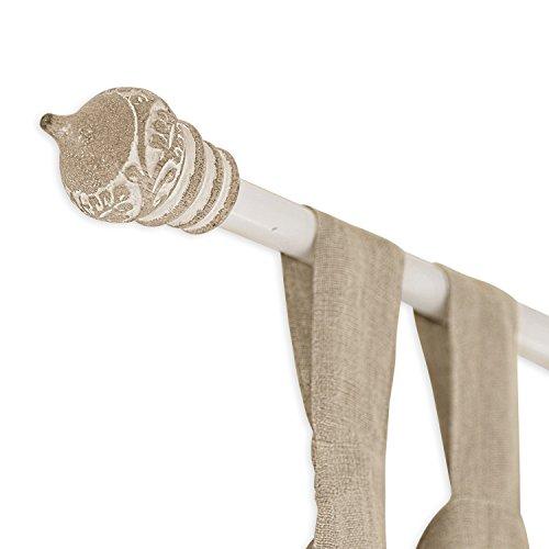 gardinenstangen eisen antik Loberon Gardinenstange Moriat, Eisen, H ca. 224 cm, braun/creme