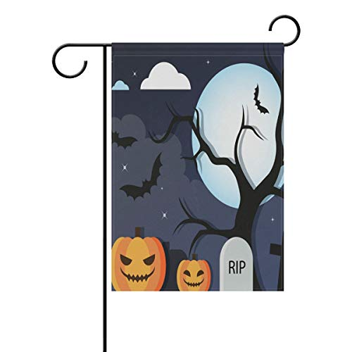 Friedhof, doppelseitig, Familienflagge Polyester Outdoor Flagge Home Party Decro Garten Flagge 30,5 x 45,7 cm ()