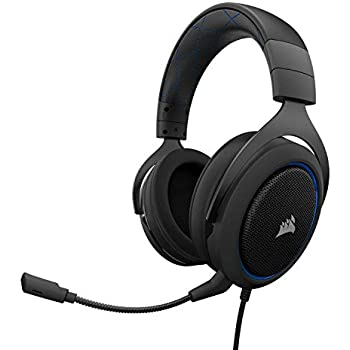 44ed597df6d CORSAIR HS50 - Stereo Gaming Headset - Discord Certified Headphones - Works  with PC, Mac, Xbox One, PS4, Nintendo Switch, iOS and  Android(CA-9011172-AP) ...