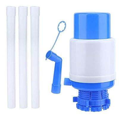 Wifehelper Water Bottle Pump - Manual Drinking Water Pump Dispenser Fits for 5 Gallons Bottled Water