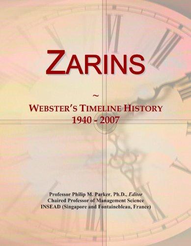 Zarins: Webster's Timeline History, 1940 - 2007