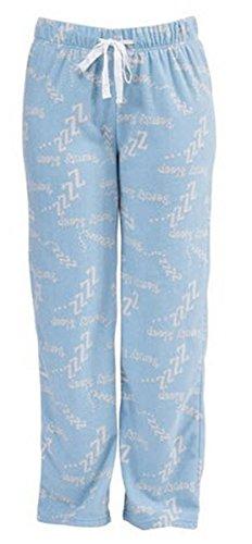 Lora Dora-Lenoge Casual Lounge Pantalon de pyjama pour femme Motif à carreaux Taille 10–18 bas Bleu - Blue Beauty Sleep