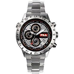 Fila 38-007-002 Men's Chronograph Stainless Steel Case and Bracelet Quartz Watch