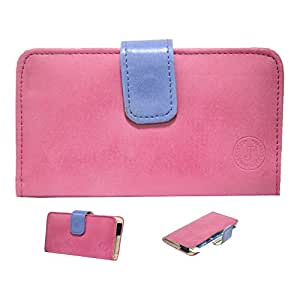 Jo Jo Nillofer Leather Carry Case Cover Pouch Wallet Case For Samsung Galaxy S4 Active Pink Dark Blue