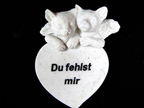 Gedenkstein Katze 'Du fehlst (Preise Grabstein)