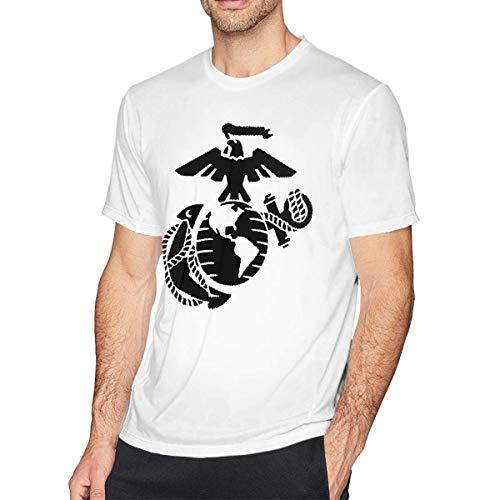 USMC United States Marine Corps Herren T-Shirt mit Rundhalsausschnitt, Freizeithemd für Herren,6XL (United States Marine Corps Shirts)