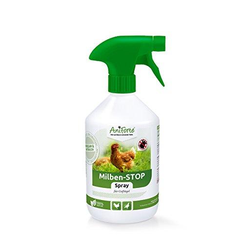 AniForte Milben - Stop Spray 500 ml - Naturprodukt für Geflügel gegen Milben und Parasiten ALS...