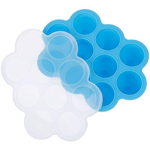 Lictin Einfrieren Babybrei Babynahrung Aufbewahrung Food Storage Gefrierschrank Behälter-Behälter mit Silikon Clip hausgemachte Babynahrung Silikon Gefrierschrank Lagercontainer Tray