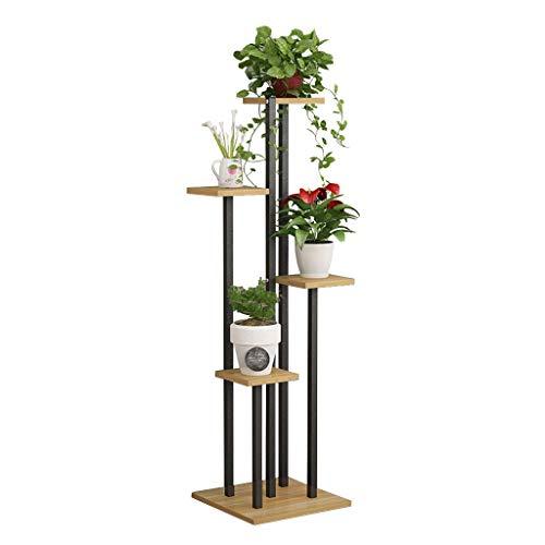 Blumentreppe aus Metall Holz Pflanzentreppe, Pflanzenregal Blumenregal, Blumenbank, Pflanzenständer Blumenständer für Innen Außen Garten Dekor