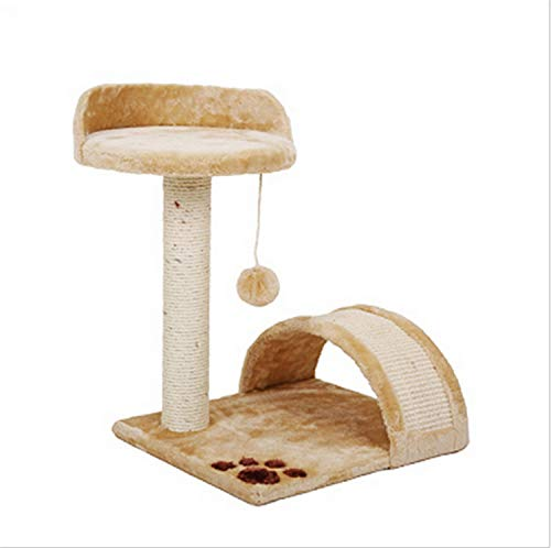 UNIQUE-F Katze Klettergerüst, weiche Katzen Spielen Baumklettern Fangball schwingen Kätzchen Spielzeug Nest Sofa Gran Board 2 Farben Brown -