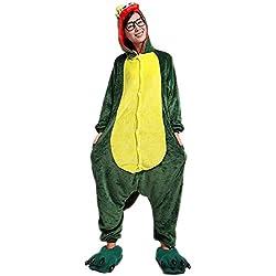 Minetom Kigurumi Pijamas Unisexo Adulto Traje Disfraz Adulto Animal Pyjamas Koala M Dinosaurio Verde L (170-180CM)