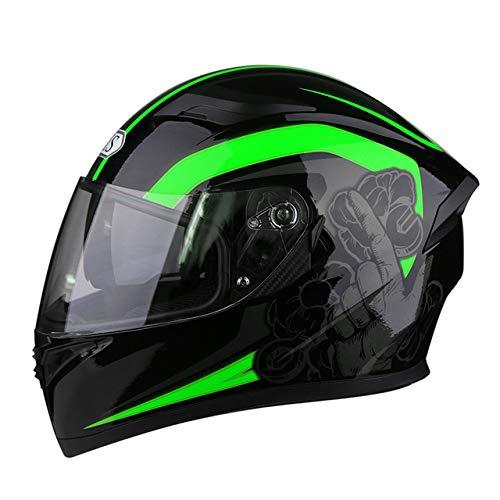 Berrd Casco da moto Casco da moto da corsa Casco da moto Casco integrale Casco da bicicletta Four Seasons Universal R1-607-G2 XL