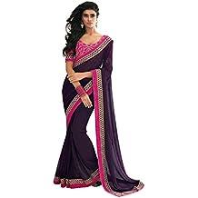 Jay Sarees - Sari - para mujer Purpul única