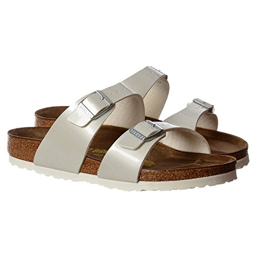 Sandalo Infradito Di Birkenstock Femminile Sydney - Birkoflor Doppia Regolabile Fibbia- Bianco Perlato