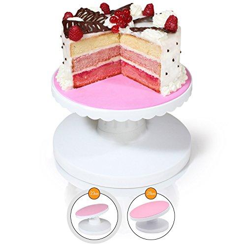 Amazy Présentoir à gâteaux – Présentoir pivotant inclinable pour décorer et servir vos gâteaux et vos tartes (Ø 23 cm)