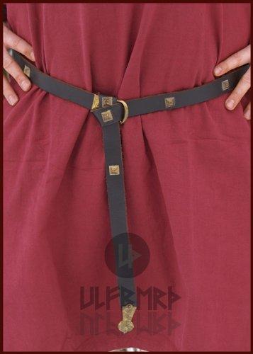 Langer Mittelalter Gürtel aus Leder mit Ziernieten – LARP Wikinger Mittelalterkostüm - 3