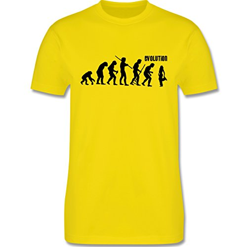 Evolution - Hip Hop Evolution - Herren Premium T-Shirt Lemon Gelb