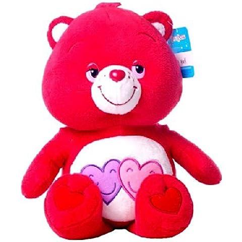 Amorosita Soft 24/30cm Osos amorosos peluche rojo con 2 corazones Care Bears - Calidad super soft - Serie4