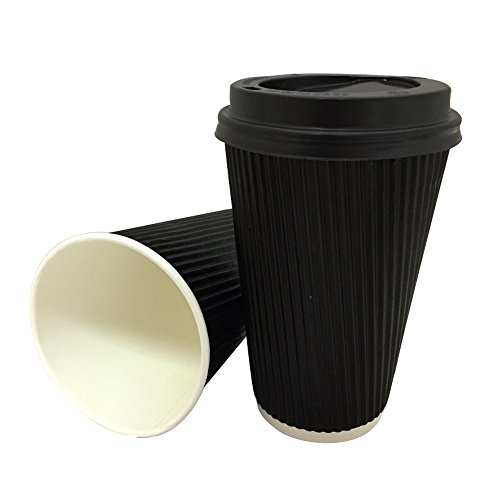 100-x-12oz-belgravia-black-triple-ripple-paper-wall-disposable-tea-coffee-cappuccino-hot-drinks-cups