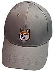 Gorros Unisex Sannysis sombreros de caballero Finger Impress (perro, gris)
