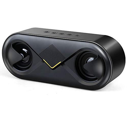 CCSHW Mini tragbare Bluetooth-Lautsprecher drahtlose Stereo-Surround-Lautsprecher großes Volumen Licht nach Hause Auto Outdoor-Sport-Subwoofer,Black (Akustische Auto-lautsprecher)