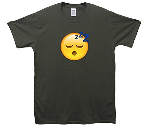 Sleeping Face Emoji T-Shirt Khaki