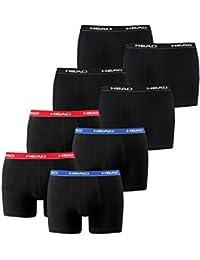 Head Herren Boxershorts im 8er Pack ohne Eingriff 841001001 (2x Black / 2x Red/Blue, S)