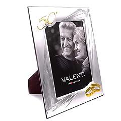 Idea Regalo - Cornice Portafoto Nozze Oro cm 18 x 24 Valenti Argenti
