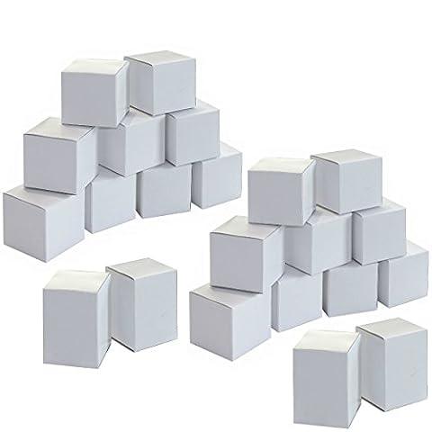 Calendrier de l'Avent à fabriquer - 24 boites cube en carton blanc à remplir et à décorer, personnaliser