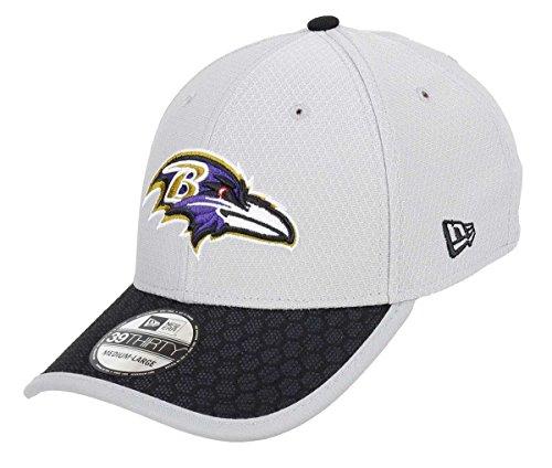 Baltimore Ravens New Era NFL 39THIRTY 2017 Sideline Gray Flex Fit Hat Hut