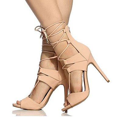 CH&TOU Da donna-Sandali-Ufficio e lavoro Formale Casual Serata e festa-Altro Cinturino alla caviglia-A stiletto-Finta pelle-Nero Viola Rosso pink