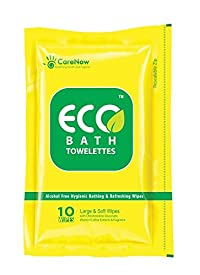ECO bath Towelettes Large Ziplock - 6 packs X 10 wipes = 60 wipes. Special Offer - Get extra 6 X 3 = 18 wipes free! Total 78 Wipes!!!