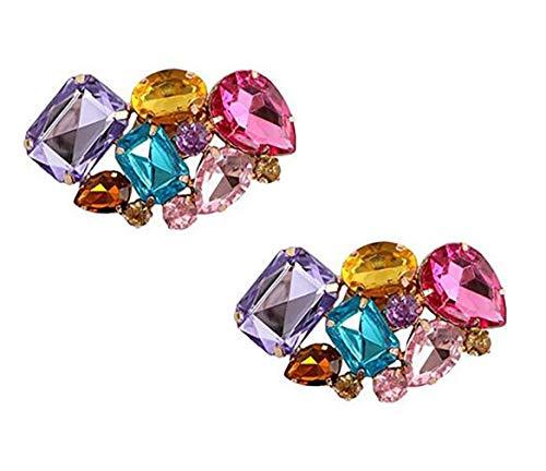 2 piezas elegantes de cristales de imitación para zapatos, decoración de zapatos,...