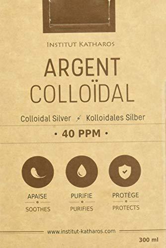 Plata Coloidal 100% natural 40 PPM 300mL ✅Suministrado con un tapón de dosificación + Rociar para llenar ✅Concentración superior, partículas más pequeñas: mejores resultados ✅Solución certificada por 3 laboratorios independientes ✅Fabricado en U.E. ✅Instituto Katharos®