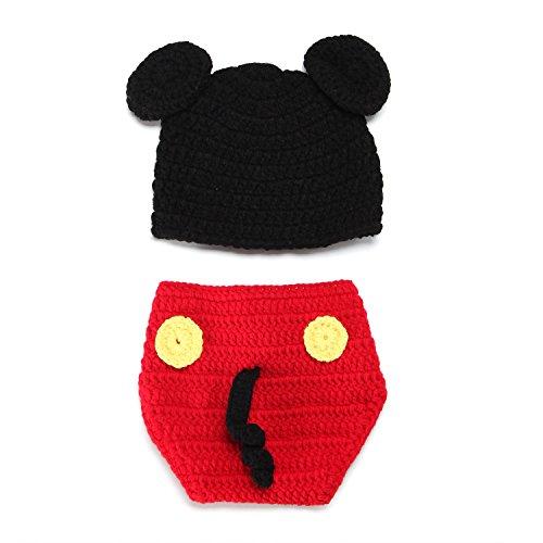 (Neugeborenes Mädchen-Jungen-Baby-Fotografie Prop Crochet Strickhandgemachte Batman Hut Cape Kostüm)