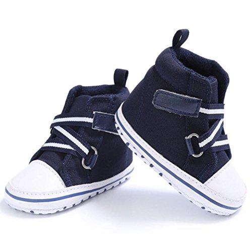 Scarpe per bambini Koly_Scarpe ragazza del neonato Neonato Crib morbida suola scarpe da ginnastica Dark Blue