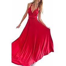 Abendkleid rot neckholder
