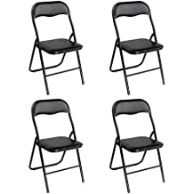 Chaises Pliantes De Bureau Noires A Structure Noire