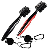INTVN Golf Brush Groove Cleaner Golf Club Brush for Cleaning Golf Shoes/Golf Club/Golf, 2 Pack